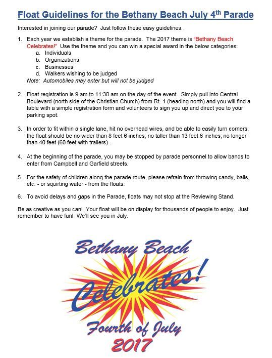 2017 Float Guidelines